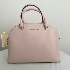 Michael Kors Blossom Pink Large Emmy Dome Satchel